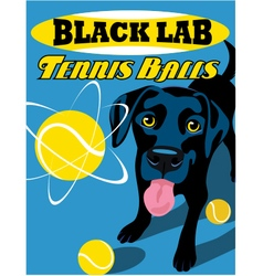 Poster black lab dog vector