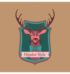 Hipster style logo vector