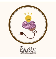 Brain design vector
