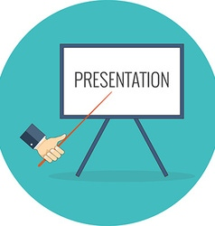 Presentation training seminar concept flat design vector