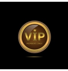 Golden VIP label vector image
