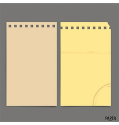 Collection of old paper sheet ready for your vector