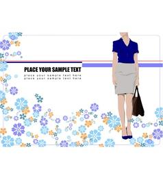 al 0524 girl 02 vector image vector image
