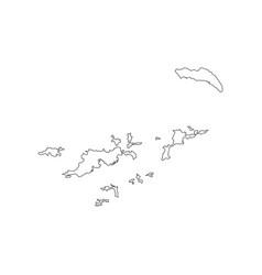 British virgin islands map vector