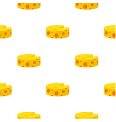 cheese pattern flat vector image