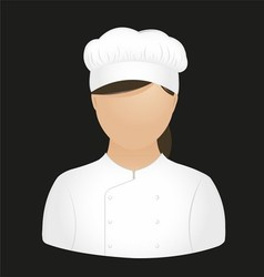 Chef girl vector