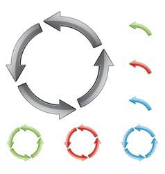 Circular arrows vector
