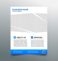 Corporate business flyer template - light blue vector image vector image