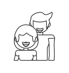 Couple relationship family people outline vector