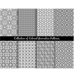 ethnic decorative oriental patterns set vector image vector image