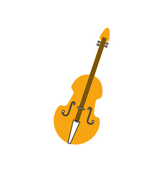 fiddle musical instrument classic object vector image