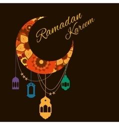 Happy ramadan kareem greeting background vector