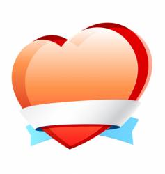 heart with ribbon vector image