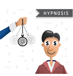 Hypnosis man vector
