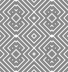 Monochrome geometric knotted seamless pattern vector