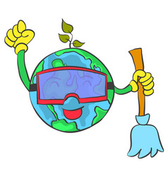 save world from healthy vector image vector image