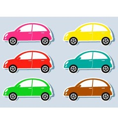 set of colorful retro cars vector image vector image