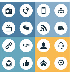 set of simple social icons vector image vector image