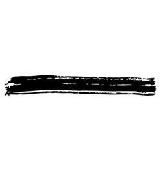 spot ink brush black on white background vector image