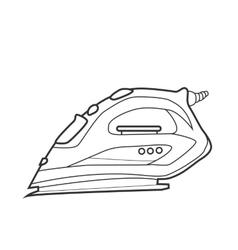 Symbol iron Icon for web site Line art vector image