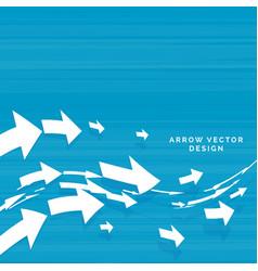Wavy arrows moving forward concept design vector