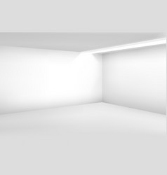 White empty room 3d modern blank interior vector