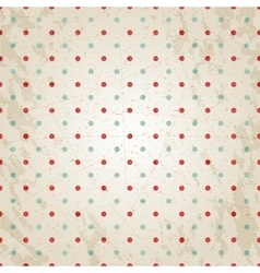 Grunge vintage paper texture red and blue dots vector image
