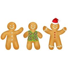 Gingerbread Mans Set vector image