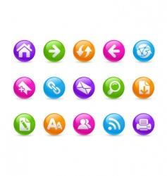 web navigation icons vector image
