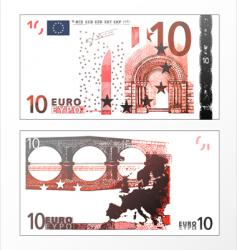 ten euro grunge trace vector image