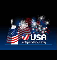 4 july independence day of usa design vector image vector image