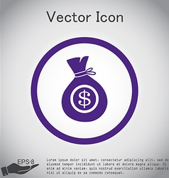 Bag of money vector