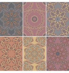 Set of seamless patterns in oriental style vector