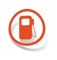 Gas station sign sticker orange vector