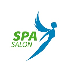 Logo girl with wings for the spa vector