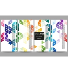 Flyers set Abstract colorful business background vector image