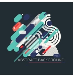 Colorful geometric composition vector