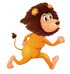 A running lion vector image vector image