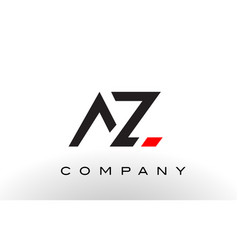 az logo letter design vector image vector image