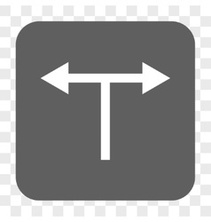 Bifurcation arrows left right rounded square vector
