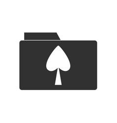 Black icon on white background spade symbol on vector