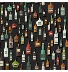 Bottles seamless pattern vector