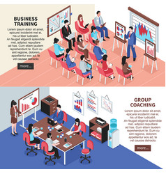 business training and group coaching banners vector image vector image