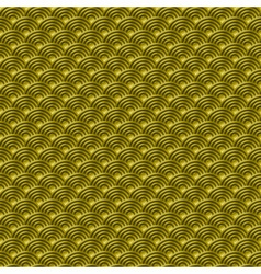 Chinese gold seamless pattern dragon fish scales vector