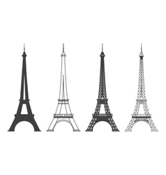 Eiffel tower in paris silhouette vector