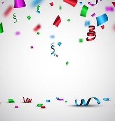 Festive background with confetti vector