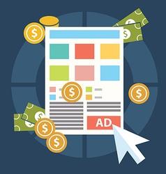 Flat design modern concept of pay per click vector