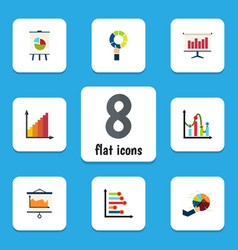 flat icon chart set of segment infographic vector image