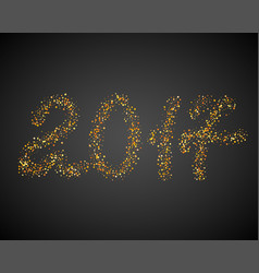 golden new year 2017 particles background gold vector image vector image
