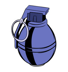 grenade icon cartoon vector image